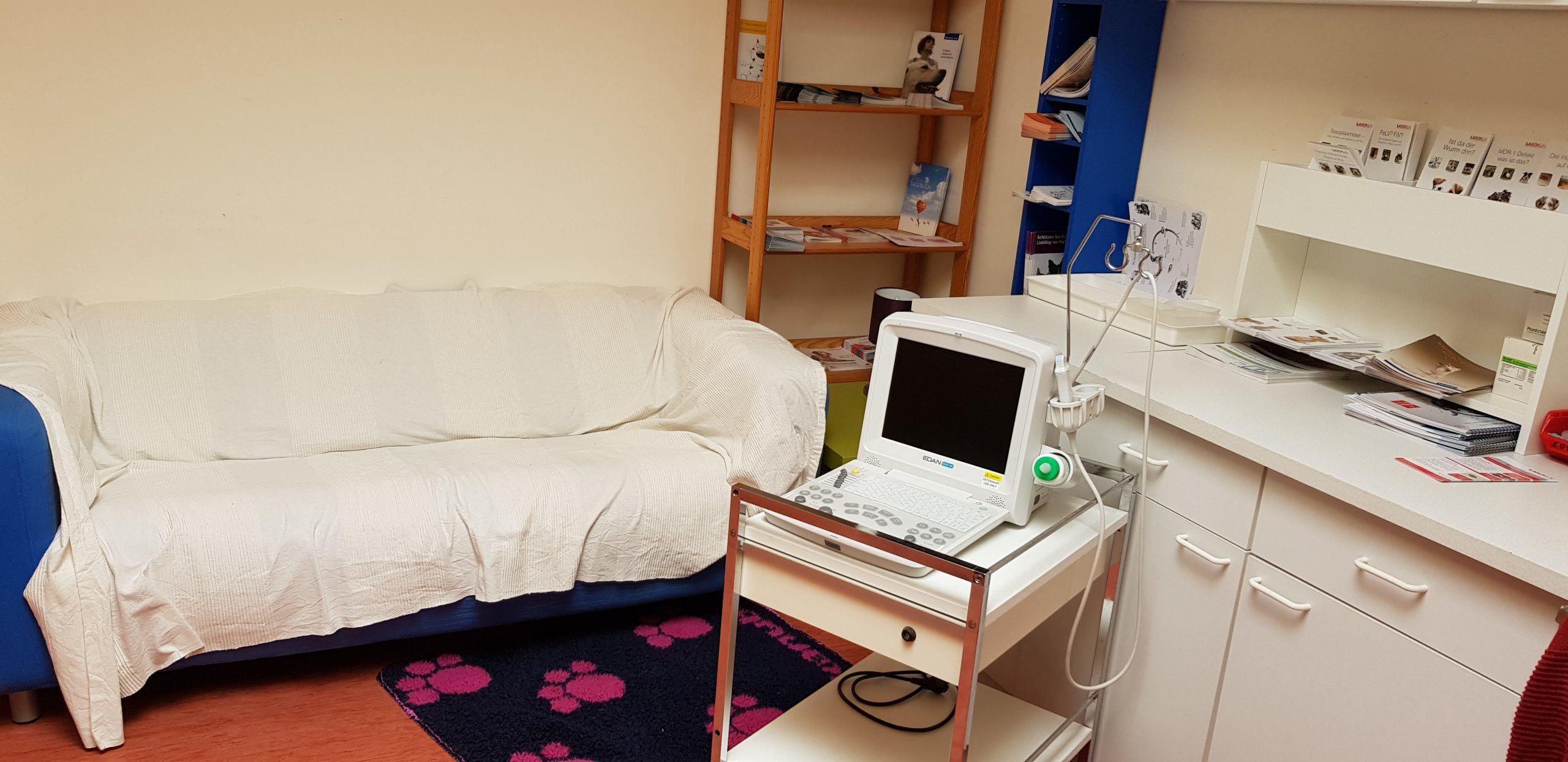 Katzen-Wartezimmer mit Ultraschall und Blutdruck
